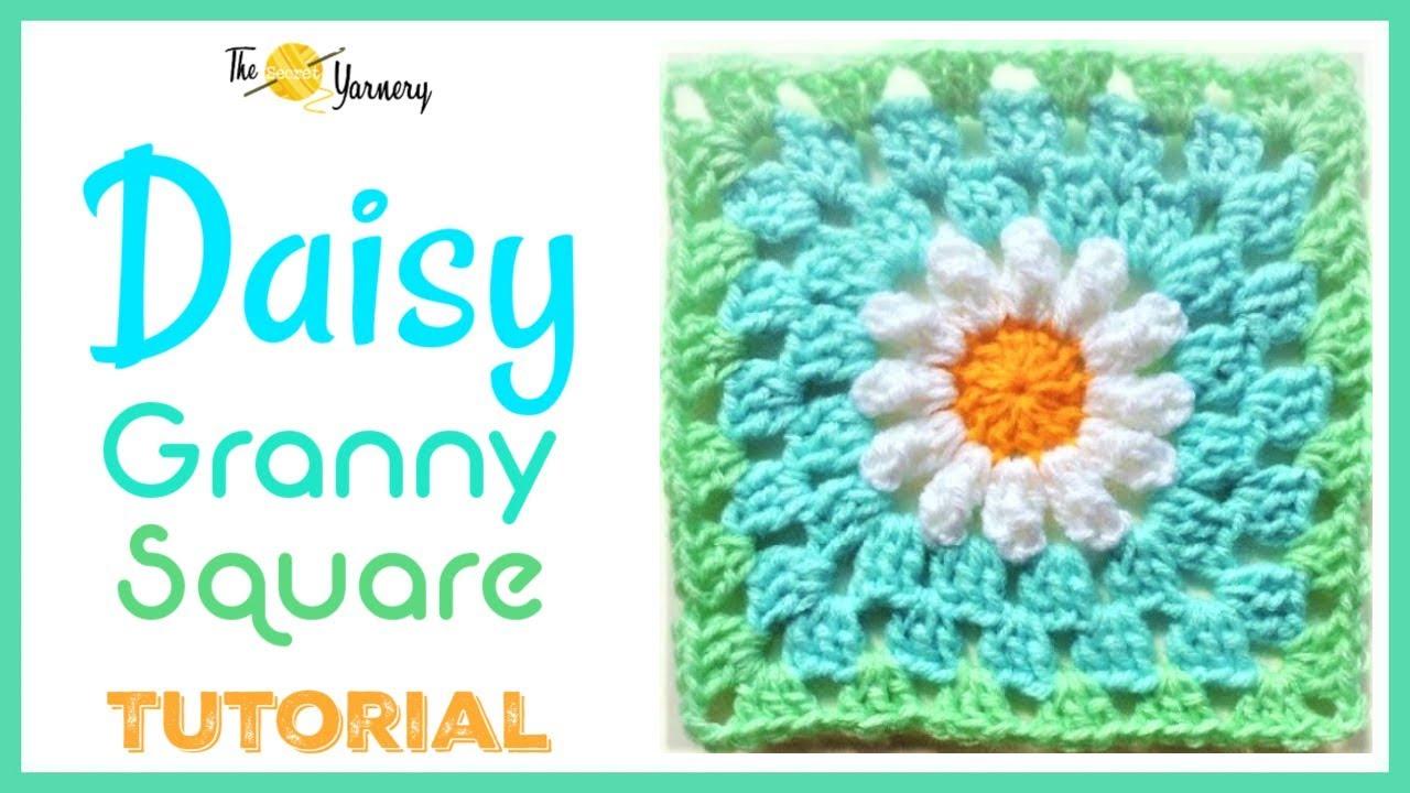 CROCHET: Daisy Granny Square - YouTube