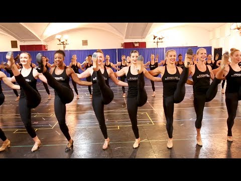 Joining the Radio City Rockettes in rehearsal for THE CHRISTMAS SPECTACTULAR