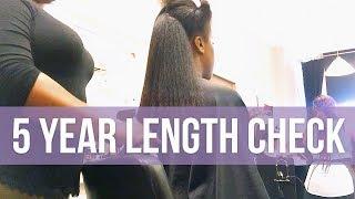 My Five Year Length Check | Natural Hair Growth