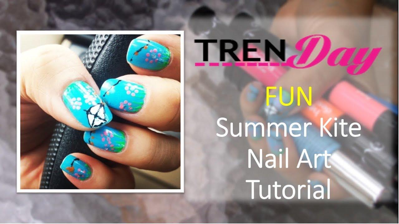 SUMMER KITE DESIGN NAIL ART USING Hot Design Glitz & Glam Nail Art ...