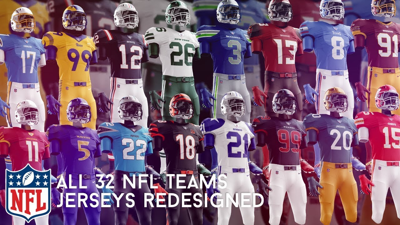 I Redesigned Every NFL Team's Jersey