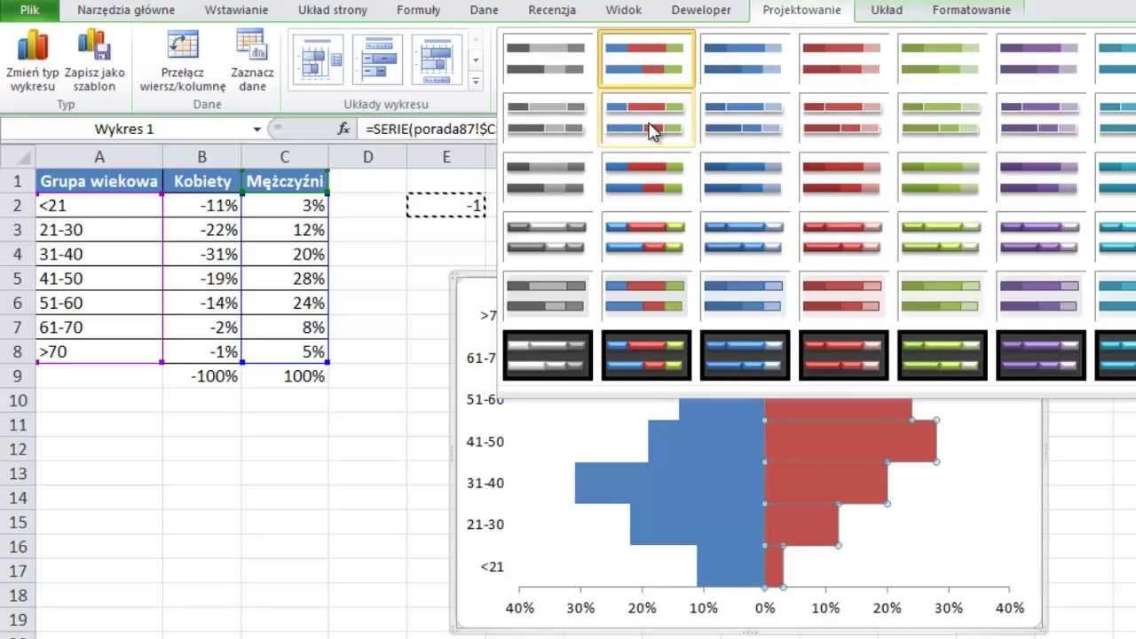 Excel wykres demograficzny jak go stworzy porada 87 youtube excel wykres demograficzny jak go stworzy porada 87 ccuart Choice Image