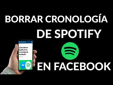 Cómo Borrar Spotify de tu Cronología de Facebook