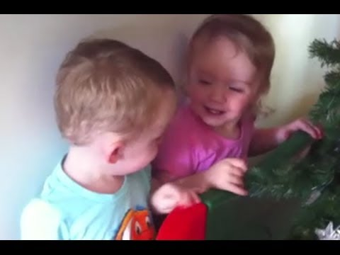 Twins talking and playing @ 18 months old - YouTube