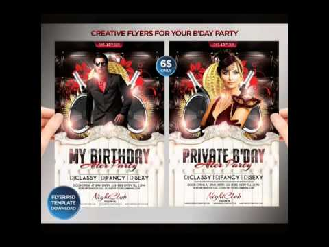 Birthday Bash Psd Flyer Templates Donloads  Youtube