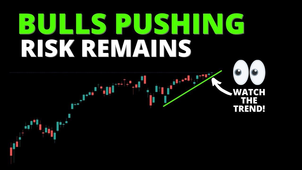 BULLS PUSHING... RISK REMAINS (S&P500, SPY, QQQ, DIA, IWM, ARKK, BTC)