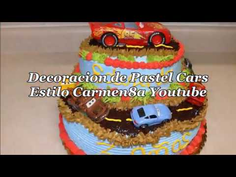 Decoracion de pastel Cars Paso a Paso Estilo8a