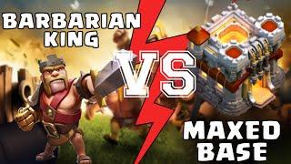 Clash of Clans - Maxed Barbarian king Vs Maxed Base