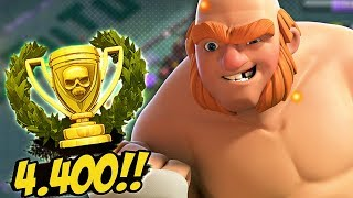 CHEGAMOS A 4400 TROFEUS !! PUSH RUMO A 5000 TROFEUS - CLASH OF CLANS