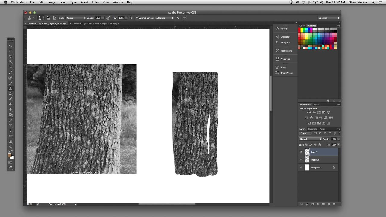 Photoshop Tutorial Generate Textures Using The Clone Tool Youtube