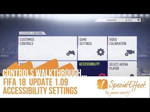 FIFA 18 Accessibility Settings (1.09 Update) | Controls Walkthrough