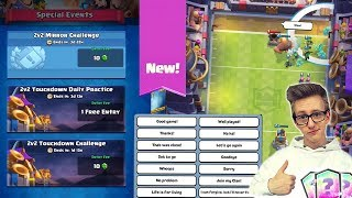 NEUER MODUS, DESIGN & CHALLENGES: Touchdown Clash Royale Update Oktober Deutsch CR Kevgo around