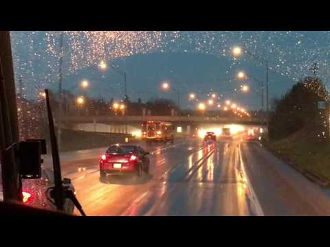 Driving Downtown Columbus, Ohio and Interstate 70 East