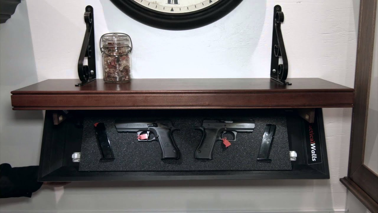 Wall Safes For Home tactical walls -- not your father's gun safe - youtube