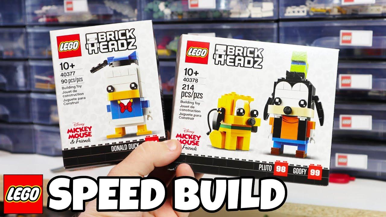 LEGO 40377 /& 40378 Brickheadz Donald Duck /& Goofy /& Pluto Sets Brand New!