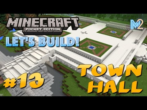 Minecraft PE - Town Hall Foundations (Let's Build a World #13)