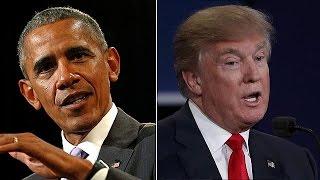 Obama und Trump: gegensätzlicher geht nicht