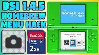 DSi Homebrew Menu On Firmware 1.4.5! (Camera App Hack)