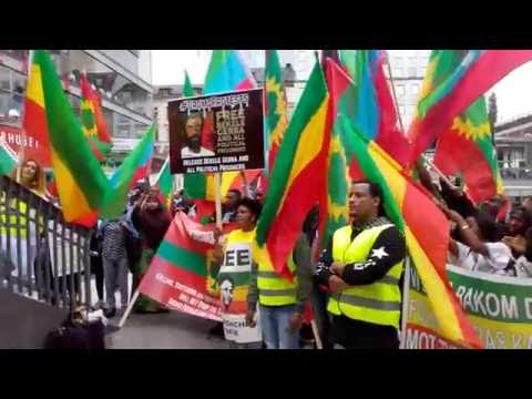 Today the big demonstration in front of swden Stockholm angeinst weyane dictatorship in Ethiopian
