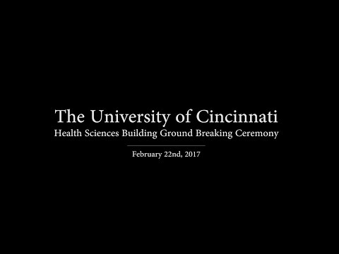 The University of Cincinnati's New Allied Health Sciences Building Ground Breaking