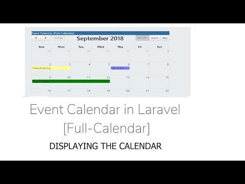 CRUD-Event Calender: Add Event in Laravel (Full-Calender
