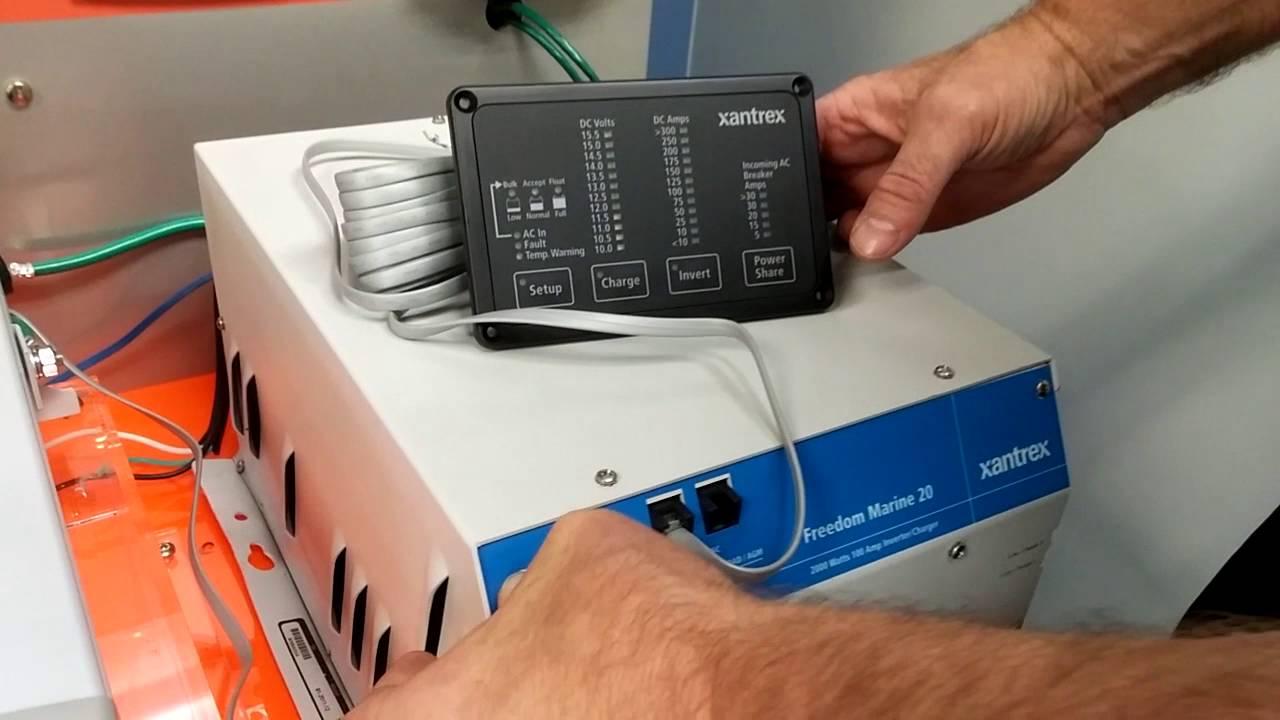 Xantrex Tech Tip  Freedom Marine InverterCharger Remote Panel  YouTube