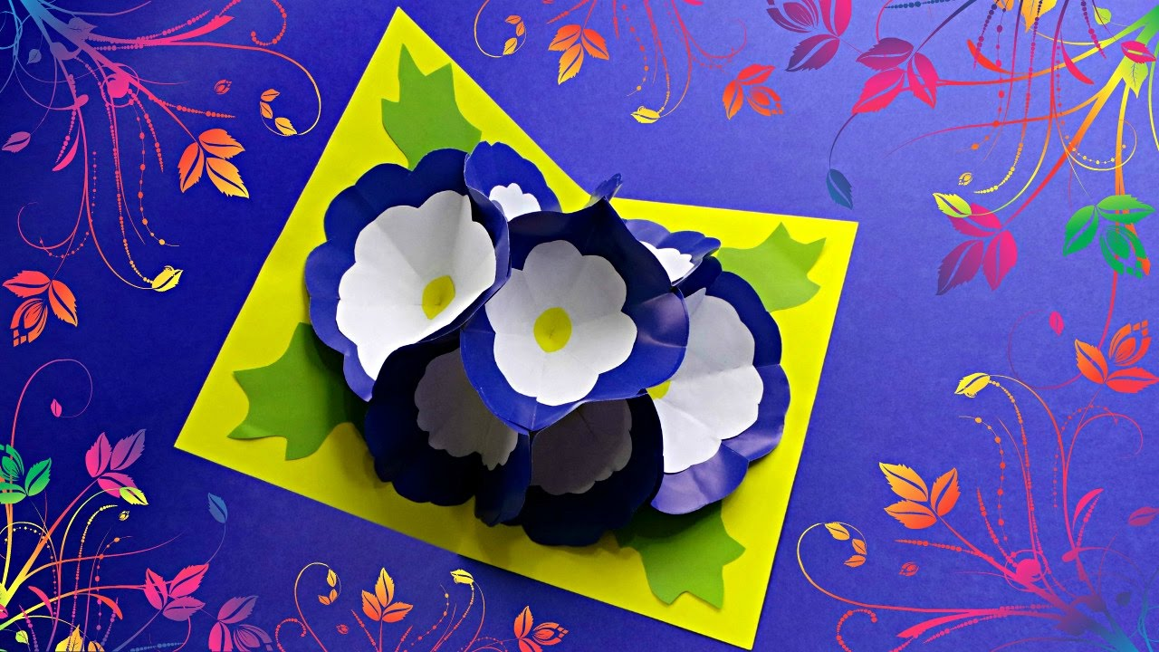 Diy 3d Flower Pop Up Card Tutorial Diy Cards Youtube