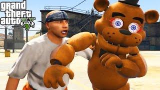 GTA 5 Mods 'FIVE NIGHTS AT FREDDY'S VS PRISON' (GTA 5 FNAF Animatronics, Prison Escape, Jail Break)