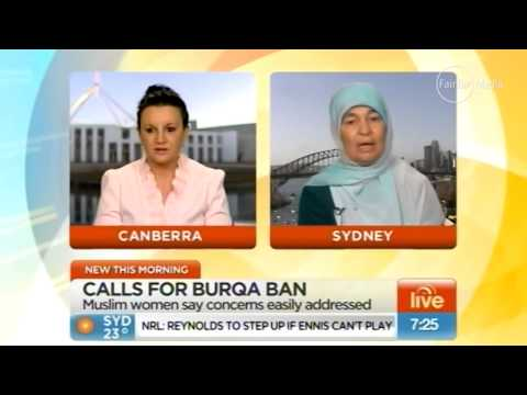 """I need to see who's under the clothing"" Burqua security debate with Jacqui Lambie"