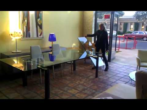 Tavoli Cristallo Allungabili Reflex.Policleto Mega Expandable Glass Table Youtube