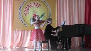 Киселёва Таня 8 лет Кёхлер Концертино Ре-мажор 2 и 3 части