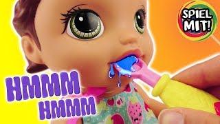 BABY Alive Puppe deutsch | Baby mit Play Doh Knete Snack und ZAUBERLÖFFEL füttern & Windeln wechseln