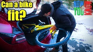Can a bike fit into the Model 3?