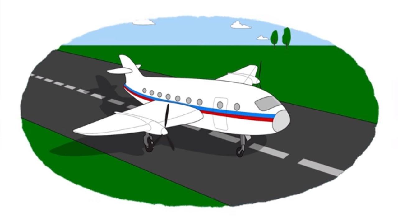 A colorear! Un avión, un platillo volante, un barco. Vídeo infantil ...