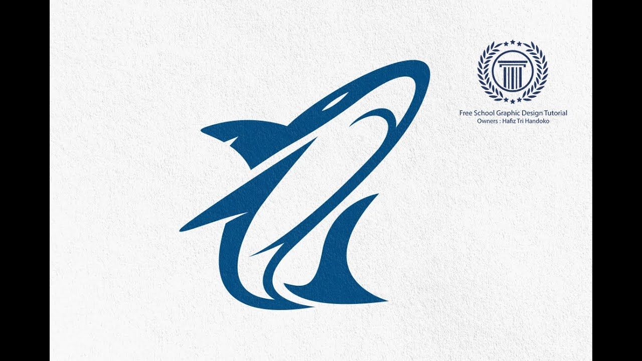 shark logo design tutorial in adobe illustrator cs6 without circular grid