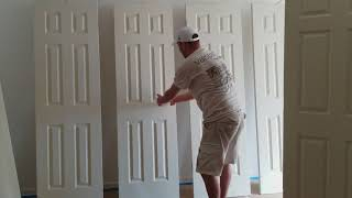 How To Professionally Spray Paint Doors with an Airless Sprayer. Artisons Painting and Remodeling.