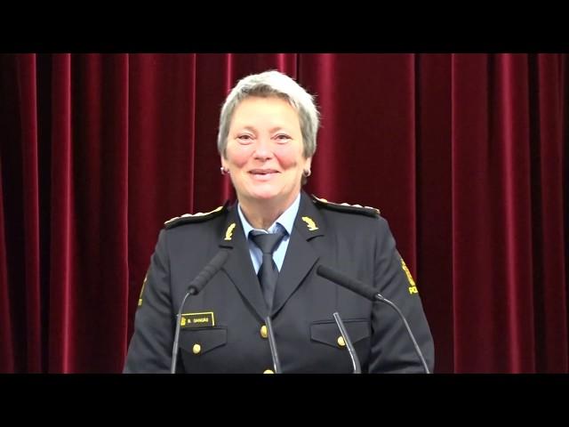 Politimester Beate Gangås -. Religionenes dag 2019