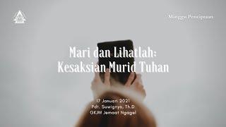 Kebaktian Minggu 17 Januari 2021 GKJW Jemaat Ngagel