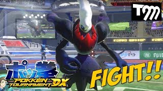 Pokken Tournament DX Gameplay - DARKRAI, MACHAMP, CHARIZARD & PIKACHU - Nintendo Switch (E3 2017)
