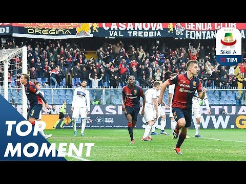 Krzysztof Piątek Scores Stunning Top Corner Goal | Genoa 3-1 Atalanta | Top Moments | Serie A