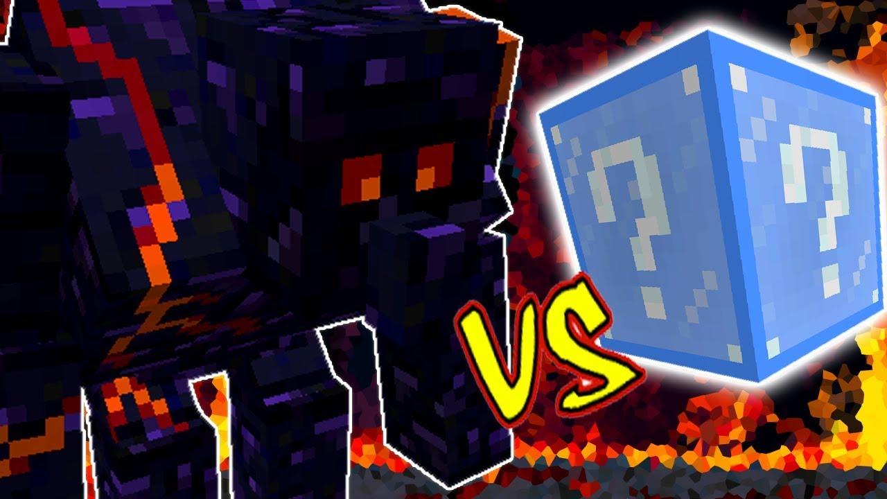 Golem Colossal De Obsidian Vs Lucky Block Frozen Minecraft Lucky