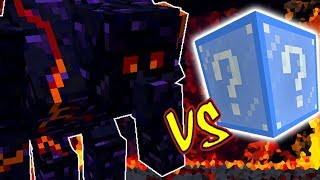 GOLEM COLOSSAL DE OBSIDIAN VS. LUCKY BLOCK FROZEN (MINECRAFT LUCKY BLOCK CHALLENGE)