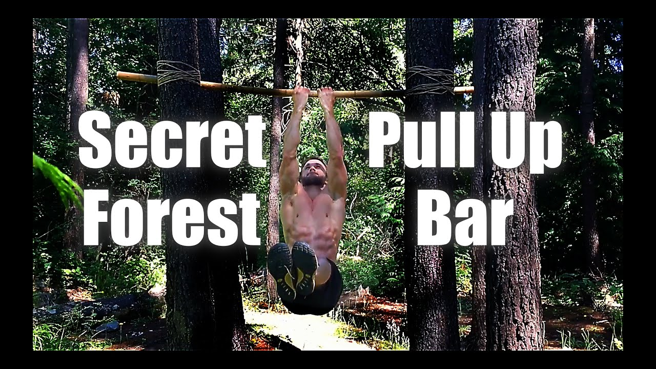 Building a Bamboo Pull-Up Bar in the Forest