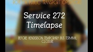 Roblox Public Transport Operators Service 272 Timelapse