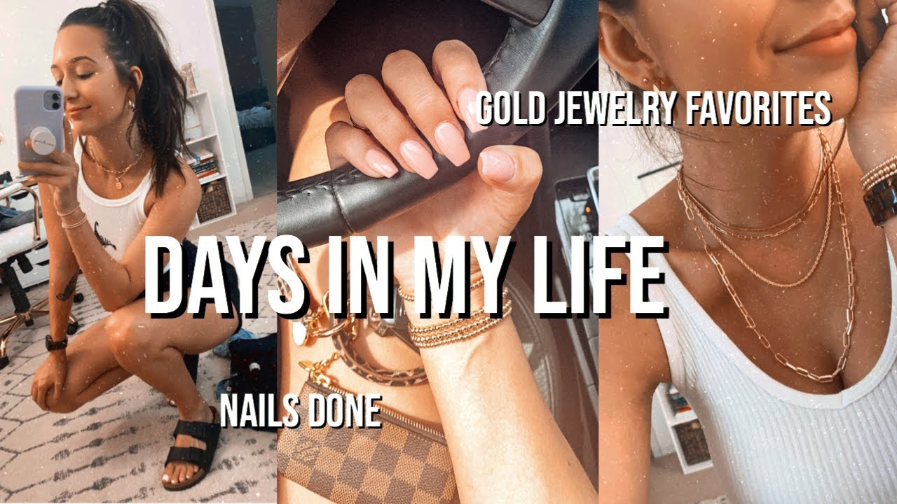 VLOG: gold jewelry favorites, getting nails done, & mini target haul
