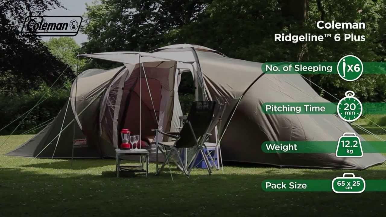 Coleman® Ridgeline 6 Plus - Family C&ing Tent & Coleman® Ridgeline 6 Plus - Family Camping Tent - YouTube