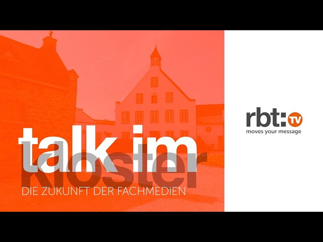 Talk im Kloster - Die Zukunft der Fachmedien | Riba:BusinessTalk