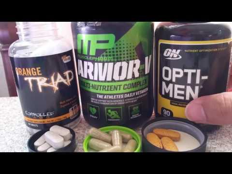 Multi-Vitamins: Opti-Men Vs Armor-V Vs Orange Triad