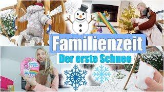 Paulines erster Schnee ❄️ | Schneeballschlacht & Schlitten fahren ☃️| Wocheneinkauf | Isabeau