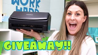 Classroom ScanSnap Intro and GIVEAWAY!!!